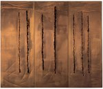 """LUCIO FONTANA - Spatial Concept, New York 10"""" (1962), lacerations"""