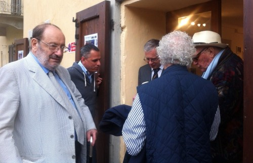 SMALL ONE - BIG ONES : Ezio Grinaudo and Umberto Eco at the opening