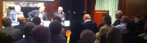 3 giugno 2013 -  RENZO ARBORE, Oscar Farinetti e console Paolo Fresu