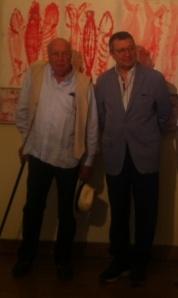 Ezio Gribaudo e Roberto De Marchi all'inaugurazione di BIANCO IRRAZIONALE