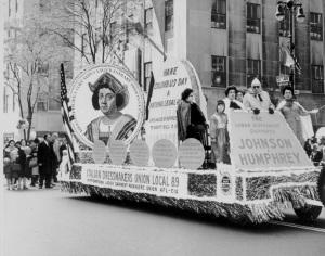 Un carro della sfilata nel 1967