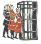 Miniatura del Codice Chigi : re Enzo catturato dai bolognesi