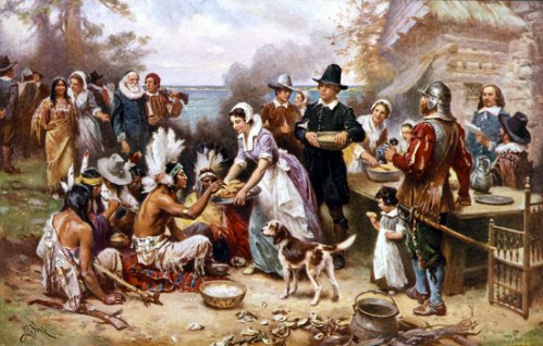 Jean Louis Gerome Ferris - The First Thanksgiving