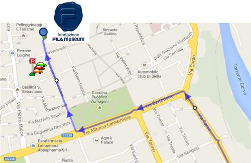 mappa Biella - P e sede FILA