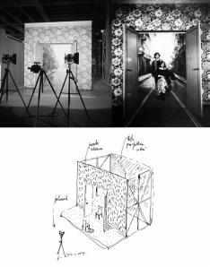 """Ugo La Pietra : """"Interno-esterno, Triennale _ Milano, 1979"""", ambiente ricostruito nella mostra a Catanzaro"""